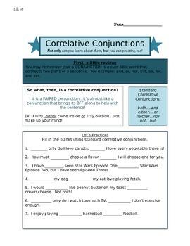 Correlative Conjunctions 5.L.1e