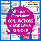 Correlative Conjunction Activities, Lesson + Correlative Conjunction Task Cards