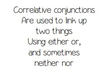 Correlative Conjunctions- A fun learning song