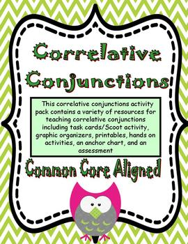 Correlative Conjunctions Activity Pack Common Core Aligned