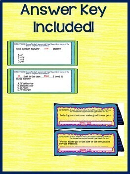 Correlative Conjunctions Interactive Notebook Google Drive Activities 5.L.1.E