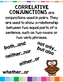 Correlative Conjunctions L.5.1.E