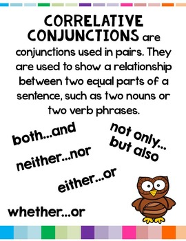 Correlative Conjunctions L.5.1.E