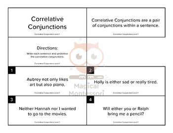 Correlative Conjunctions Level 1
