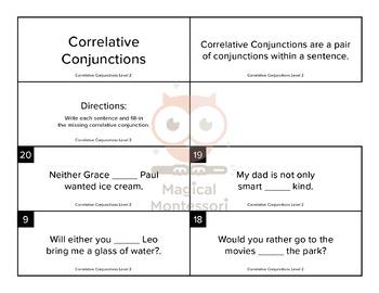 Correlative Conjunctions Level 2