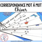 Correspondance mot à mot - Hiver (FRENCH Winter 1:1 corres