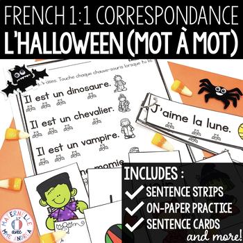 Correspondance mot à mot - L'Halloween (FRENCH Halloween 1:1 correspondence)