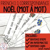 Correspondance mot à mot - Noël (FRENCH Christmas 1:1 corr
