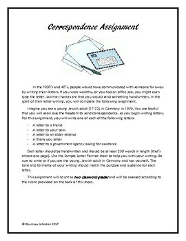 Correspondence (Letter Writing) Assignment
