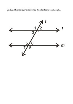 Corresponding Angles Introductory Task
