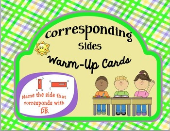 Corresponding Sides Warm-Up Cards