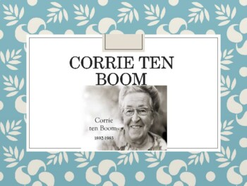 Corrie ten Boom and The Hiding Place Intro