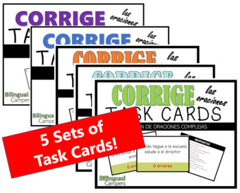 Corrige Task Cards MEGA BUNDLE