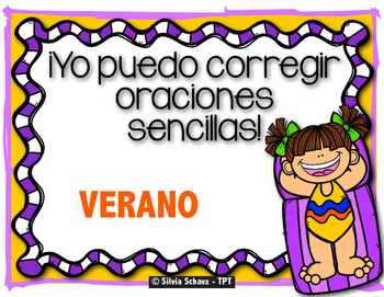 Corrigiendo oraciones para principiantes  -  Verano