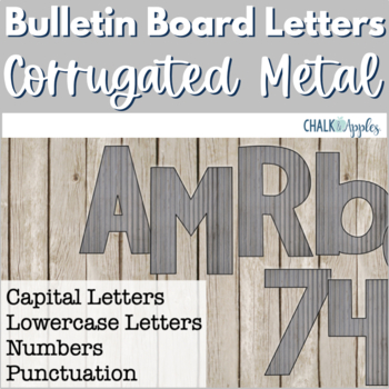 Corrugated Metal Bulletin Board Letters - Rustic Farmhouse Chic
