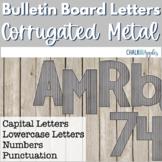 Corrugated Metal Bulletin Board Letters - Rustic Farmhouse Chic