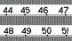 Corrugated Metal Number Line