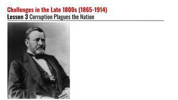 Corruption Plagues the Nation Presentation (1865-1914)