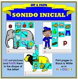 Corta y Pega: Sonido Inicial (Cut & Paste: Beginning Sound in Spanish)