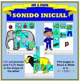 Corta y Pega: Sonido Inicial (Cut & Paste: Beginning Sound in Spanish)