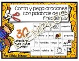 Centro de aprendizaje: corta y pega oraciones con palabras de  ¡EJEMPLOS GRATIS!