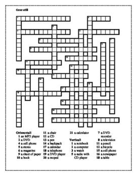 Cose utili Italian crossword