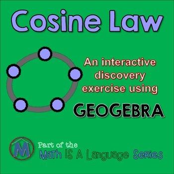 Cosine Law - interactive discovery exercise - Geogebra