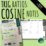 Cosine Notes: Intro to Trig Ratios Foldable