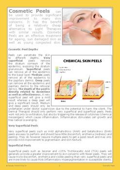 Cosmetic Peels