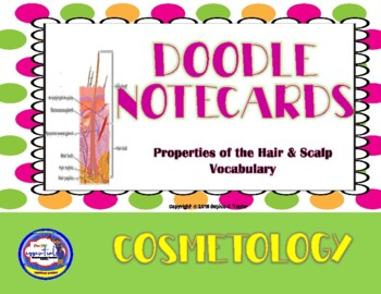 Cosmetology Doodle Notecards: Properties of the Hair & Scalp