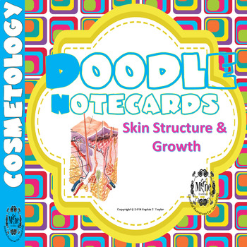 Cosmetology Doodle Notecards: Skin Structure & Growth