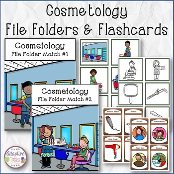 Cosmetology File Folders and Flashcards