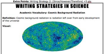 Cosmic Background Radiation Do Now (Writing Strategy)