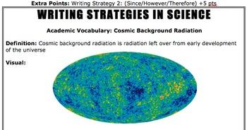 Cosmic Background Radiation Do Now (Writing Strategy)