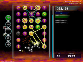 Cosmic Chain the Math Game