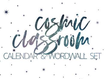 Cosmic Classroom Calendar & Word Wall