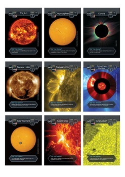 Cosmic Collector Cards - Features of The Sun.