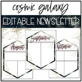 Cosmic Galaxy Classroom Decor: EDITABLE NEWSLETTER