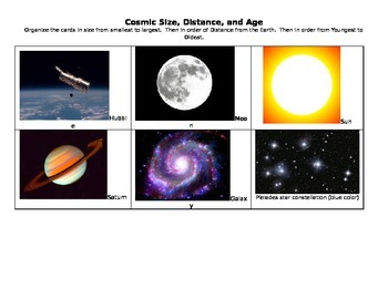 Cosmic Size Cards