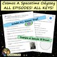 Cosmos Worksheets Bundle - ALL 13 EPISODES! A Spacetime Odyssey Videos