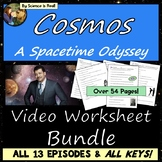 Cosmos Worksheets Bundle - ALL 13 EPISODES! A Spacetime Od