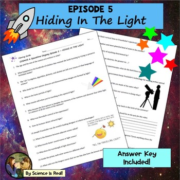 Cosmos Episode 5 Worksheet: Hiding In The Light - Cosmos - A Spacetime Odyssey