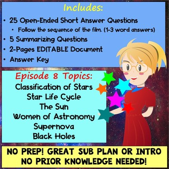 Cosmos Episode 8 Worksheet: Sisters of the Sun - Cosmos A Spacetime Odyssey