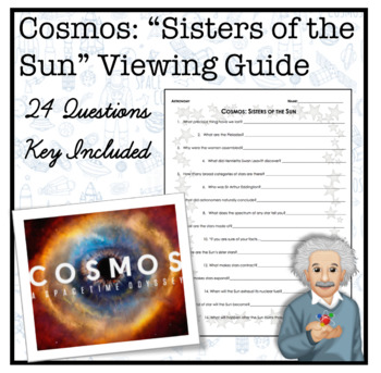 Cosmos: Sister of the Sun Worksheet by Secondary Science Shop | TpT