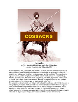 Cossacks - A Short History