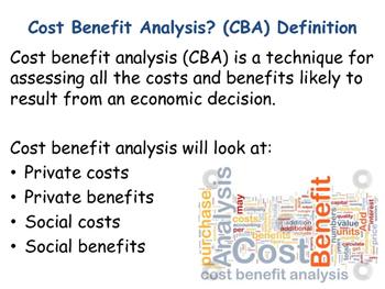 cost benefit analysis in economics pdf