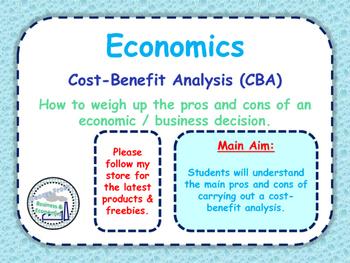 Cost-Benefit Analysis (CBA) - A-Level Economics - PPT, Qui