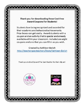 Cost Free Award Coupons For Students