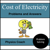 Cost of Electricity Problems with Answer Key
