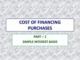 Cost of Financing Purchases - 1